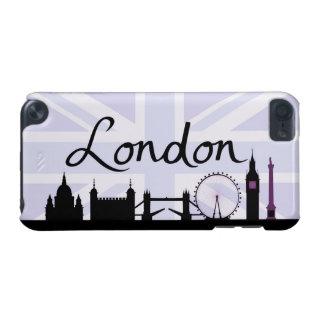 Capa Para iPod Touch 5G Roteiro de Londres no céu de Union Jack & locais