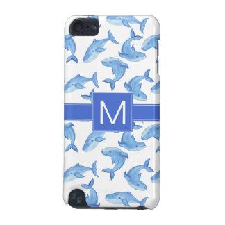 Capa Para iPod Touch 5G Teste padrão da baleia azul da aguarela