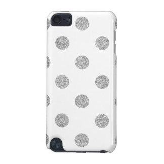 Capa Para iPod Touch 5G Teste padrão de bolinhas de prata elegante do
