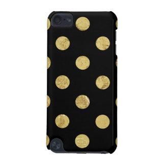 Capa Para iPod Touch 5G Teste padrão de bolinhas elegante da folha de ouro
