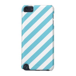 Capa Para iPod Touch 5G Teste padrão diagonal azul e branco das listras