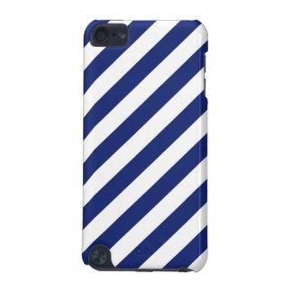 Capa Para iPod Touch 5G Teste padrão diagonal do azul marinho e o branco