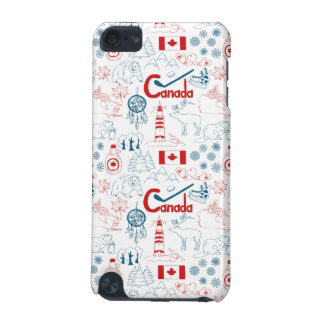 Capa Para iPod Touch 5G Teste padrão dos símbolos de Canadá |