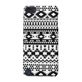 Capa Para iPod Touch 5G Teste padrão geométrico asteca preto e branco do