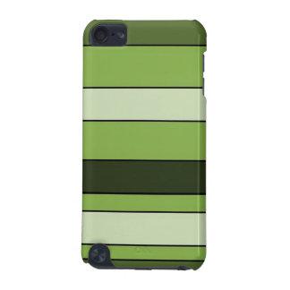 Capa Para iPod Touch 5G Teste padrão horizontal verde das listras das
