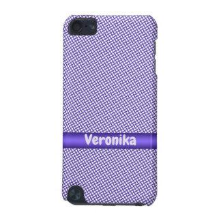 Capa Para iPod Touch 5G Teste padrão pequeno violeta da xadrez