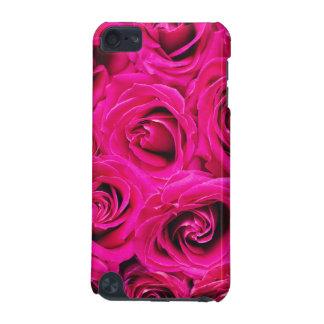 Capa Para iPod Touch 5G Teste padrão roxo cor-de-rosa romântico dos rosas