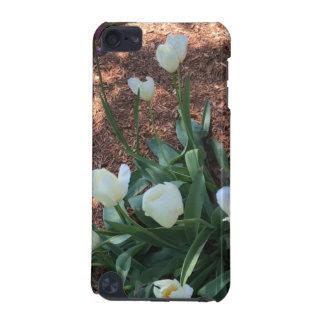 Capa Para iPod Touch 5G Tipo branco flores da tulipa da neve em um jardim