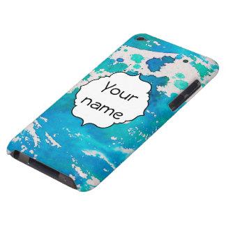 Capa Para iPod Touch A aguarela branca azul espirra