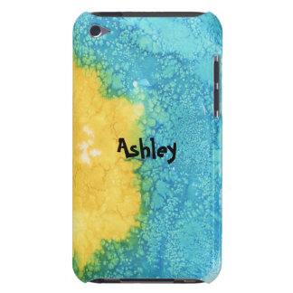 Capa Para iPod Touch Aguarela azul/amarela