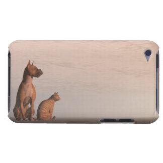 Capa Para iPod Touch Amizade do cão e gato