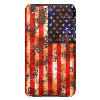 Capa Para iPod Touch Bandeira americana oxidada resistida