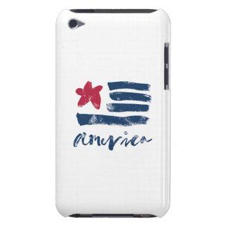 Capa Para iPod Touch Bandeira americana Paintstrokes