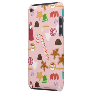 Capa Para iPod Touch Bastões e chocolates de doces no rosa