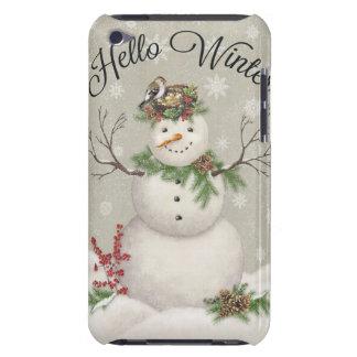 Capa Para iPod Touch boneco de neve moderno do wintergarden do vintage