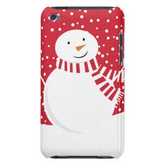 Capa Para iPod Touch boneco de neve vermelho e branco contemporâneo