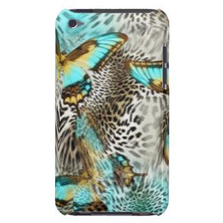 Capa Para iPod Touch Borboletas do impressão & da cerceta do leopardo