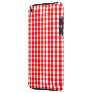 Capa Para iPod Touch Branco pequeno da neve e verificação vermelha do