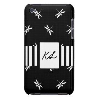 Capa Para iPod Touch Caixa preto e branco do telemóvel da libélula