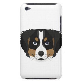 Capa Para iPod Touch Cão de montanha de Bernese da ilustração