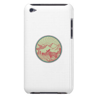 Capa Para iPod Touch Círculo de Sun das montanhas do rio dos alces