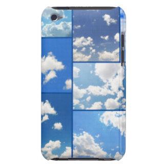 Capa Para iPod Touch Colagem dos céus azuis & das nuvens do branco