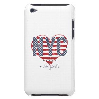 Capa Para iPod Touch Coração da bandeira americana de NYC