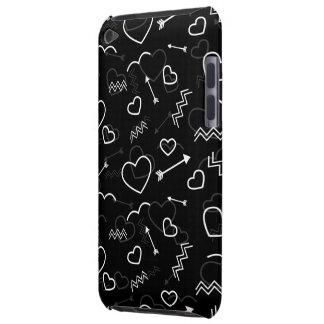 Capa Para iPod Touch Coração e seta preto e branco do amor dos