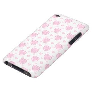 Capa Para iPod Touch Corações cor-de-rosa & brancos românticos