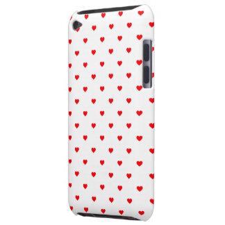 Capa Para iPod Touch Corações vermelhos das bolinhas do Natal pequeno