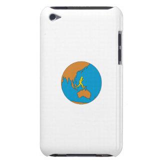 Capa Para iPod Touch Corredor de maratona que funciona em torno do