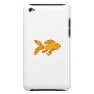 Capa Para iPod Touch Desenho da natação de Koi da borboleta do ouro