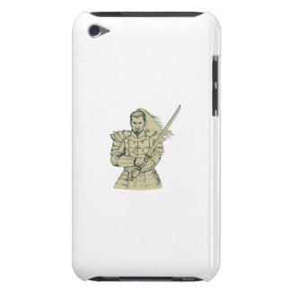 Capa Para iPod Touch Desenho da posição de Swordfight do guerreiro do