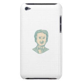 Capa Para iPod Touch Desenho do escritor de Edgar Allan Poe