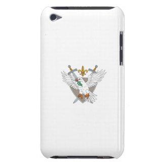 Capa Para iPod Touch Desenho verde-oliva da crista da flor de lis da