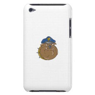 Capa Para iPod Touch Desenhos animados da cabeça do polícia do buldogue