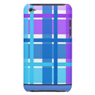 Capa Para iPod Touch Design azul & roxo da xadrez