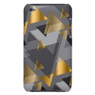 Capa Para iPod Touch Design preto do teste padrão do abstrato da prata