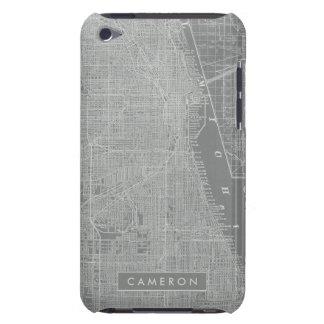Capa Para iPod Touch Esboço do mapa da cidade de Chicago