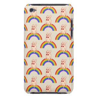 Capa Para iPod Touch Frenchie comemora o mês do orgulho no arco-íris de