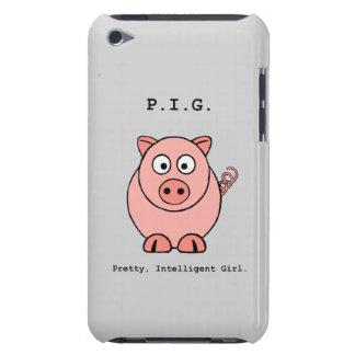 Capa Para iPod Touch Humor cor-de-rosa do porco
