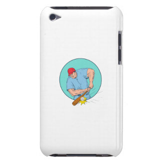 Capa Para iPod Touch Jogador de beisebol que bate um desenho de Homerun