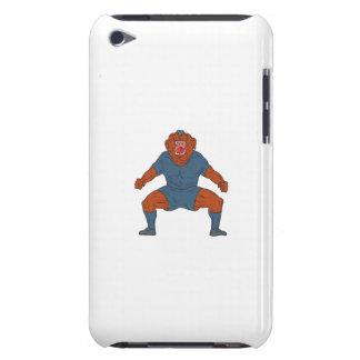 Capa Para iPod Touch Jogador de futebol do buldogue que comemora