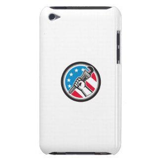 Capa Para iPod Touch Lado Circ angular da bandeira dos EUA da chave de