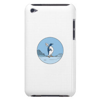 Capa Para iPod Touch Linha do círculo de Antartica da pá do pinguim de