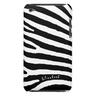 Capa Para iPod Touch Listras do teste padrão da zebra, as pretas & as
