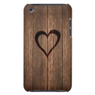 Capa Para iPod Touch Madeira rústica impressão queimado do coração