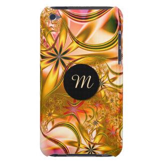 Capa Para iPod Touch Monograma de florescência do ouro do Fractal