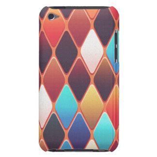 Capa Para iPod Touch Mosaico alaranjado do diamante