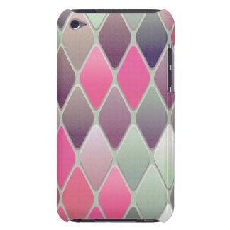 Capa Para iPod Touch Mosaico cor-de-rosa do diamante